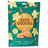 Eve's Bakery 8 Individually Wrapped Keto Cookies - Low Carb, No Sugar Vegan Treats for a Healthy Diet Diabetic Snack Food - Almond Vanilla