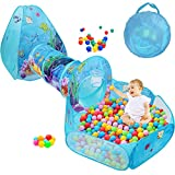 SUNBA YOUTH Kids Ball Pit, Crawl Tunnel and Play Tent, Pop Up Playhouse for Girls and Boys, Babies and Toddlers. Knight Castle for Kids for Indoor and Outdoor Use with Carrying Case. (3pc Set)