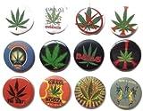 MARIJUANA Marihuana Grass #4 Impresionante calidad lote 12 nuevo pin botn insignia 3,2 cm