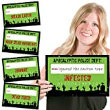 Big Dot of Happiness Zombie Zone - Halloween or Birthday Zombie Crawl Party Mug Shots - Photo Booth Props Kit - 20 Count