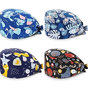Breathable fabric: these unisex scrub caps are made of cotton material with an elastic band and buckle for adjustment, soft and comfortable to wear, won't leave any marks on your forehead, durable and washable for long-lasting use; You can wash it by...