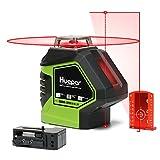 Huepar 621CR 1 x 360 Niveau Laser Croix Rouge avec 2 Points Laser, Lignes...
