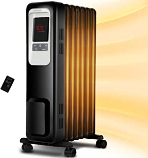 Space Heater, Aireplus 1500W Oil Filled Radiator Electric Heater with Digital Thermostat,..