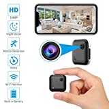 Wireless Home Security Camera WiFi Spy Camera Mini Hidden Camera Audio and Video Recording, Small House Camera Dog Camera/Baby Monitor/Nanny Cam, Remote Control for iOS and Android Phone