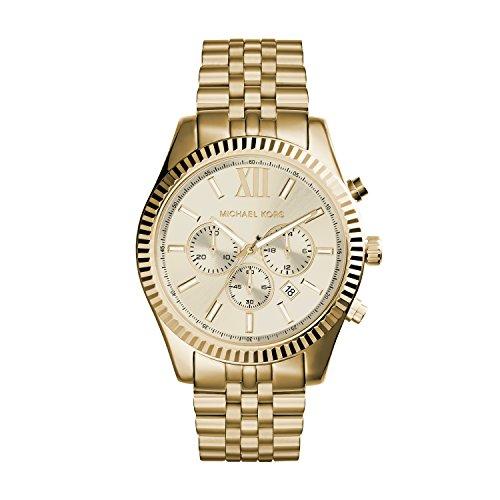 Michael Kors Herren Chronograph Quarz Uhr mit Edelstahl Armband MK8281