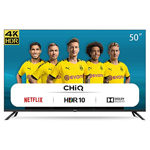 CHiQ U50H7L UHD 4K Smart TV, 50 Pouces, HDR10/hlg, WiFi, Bluetooth, Youtube, Netflix 5,1, Youtube Kids