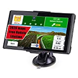 Car GPS,Latest 2020 Map 7inch GPS Navigation Includes Postcodes, Speed Camera Alerts & POI Lane Assistance, Pre-lnstalled 2020 Latest North America Maps Free Lifetime Updates
