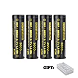 3.7V 3000mAh 40A Rechargeable Flat Top Batteries - 4 Pack