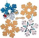 Baker Ross Couronnes Flocon de Neige (Paquet de 10) - Loisirs créatifs de Noël pour Enfants, coloris assortis