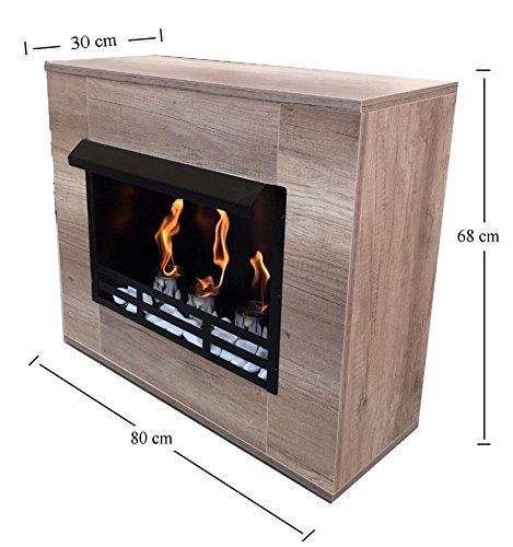 Chimney Fireplace Ethanol and Gel Fireplace Modern Maple Wood Limited Edition