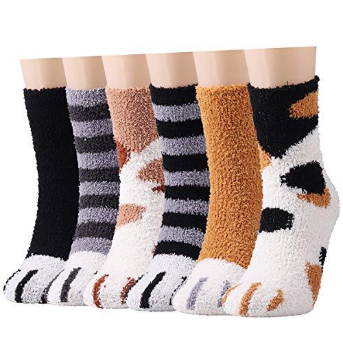 Calzini da donna morbidi e soffici, 6 paia di calzini invernali caldi per ragazze, super morbidi e soffici