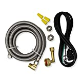 Appliance Pros PM28X329 Universal Dishwasher Installation Kit, Kitchen Sink Drain Pipe Compatible, 6' Connector with 3-Wire Power Cord