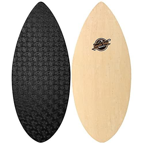 """South Bay Board Co. - 41' & 36"""" Skipper Skimboard - Beginners Skim Board for Kids - Durable, Lightweight Wood Body with Wax-Free Textured Foam Top Deck - Performance Tear Drop Shape"""