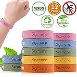 Skymore Bracelet Anti-Moustique, 12 Pcs Bracelet Anti-Moustique pour Enfants, Adulte,...
