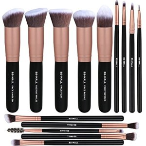 BS-MALL(TM) Makeup Brushes Premium 14 Pcs Synthetic Foundation Powder Concealers Eye Shadows Silver Black Makeup Brush… 11