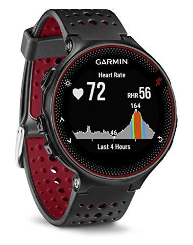 Garmin Forerunner 235 Schwarz und Marsala-Rot - GPS-Laufuhr mit Herzfrequenzmessung am Handgelenk (Generalüberholt)