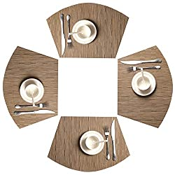 SHACOS Round Table Placemats Set of 4 Wedge Placemats Heat Resistant