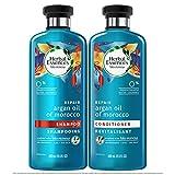 Herbal Essences Biorenew Argan oil of Morocco Repair Shampoo 13.5 OZ and Conditioner 13.5 OZ, Bundle Pack