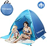 Felicigeely Beach Tent,UPF 50+ Portable Pop up Sun Shelter with Carry Bag,Automatic InstantBaby Beach Tent Beach Sun Shade Fit for 2-3 Person