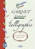 Carnet d'exercices de calligraphie