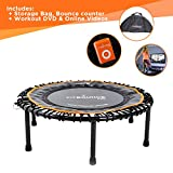 Fit Bounce PRO II Mini Trampoline Fitness Bungee|Fabrication Professionnel...