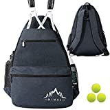 Himal Outdoors Tennis Backpack Tennis Bag - Large Storage Holds 2 Rackets and Necessities With Tennis,Pickleball,Racketball,Suitble for Women,Men and Teenagers,Blue gray