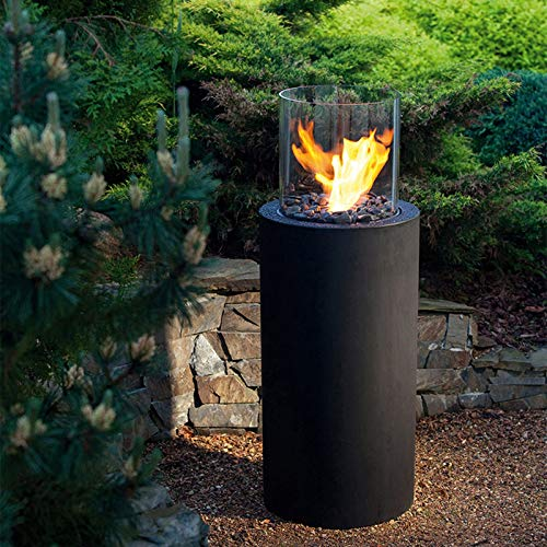 YITIE Bio Ethanol Fireplace Ventless (3 Liter) - Secure Burning System, PVD 304 Stainless Steel, Adjustable Flame - Ethanol Fire Pit for Living Room/Balcony/Garden