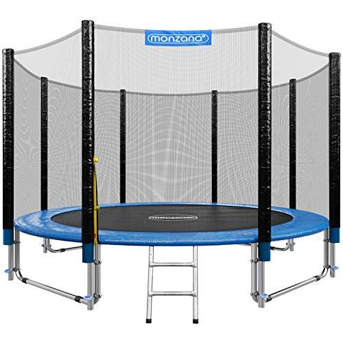 Deuba Trampoline extérieur Rond Ø305cm Max. 150kg Set Complet Filet de sécurité Porte d'entrée échelle poteaux Trampoline Jardin Robuste Accessoires