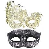 Thmyo Paquet de 2 Masques vénitiens de Mascarade pour Les Couples,...