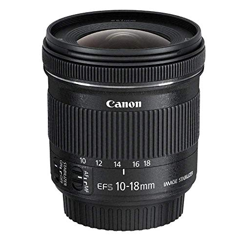 Canon Obiettivo Ultragrandangolare con Zoom, EF-S 10-18 mm f/4.5-5.6 IS STM, Stabilizzatore d'immagine, Nero/Antracite
