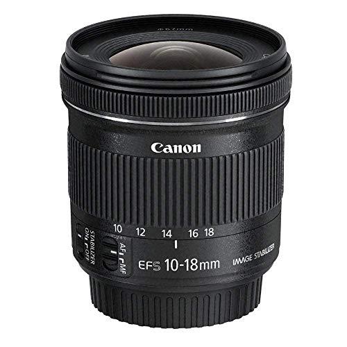Canon Zoomobjektiv EF-S 10-18mm F4.5-5.6 IS STM Ultra Weitwinkel für EOS (67mm Filtergewinde, Bildstabilisator) schwarz