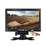 7 Zoll Kleiner CCTV Monitor, Kenowa 800x480 TFT LCD HD Farbe Bildschirm AV Auto-Monitor für DSLR, CCTV Kamera, DVD, Auto Rückfahrkamera, Überwachung Kamera mit Stand, Fernbedienung und 2 AV-Eingang