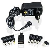 CSL - Bloc d'alimentation Adaptateur Universel 3 4,5 5 6 7,5 9 et 12 V AC DC...