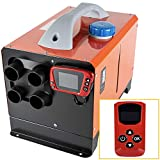 Fiberfly Diesel Air Heater All In One 5KW, Muffler, Diesel Air Heater 12V, 5L Tank, Diesel Parking Heater with LCD Thermostat Monitor of Plateau Version & Remote Control for Bus Boat and Motor-home