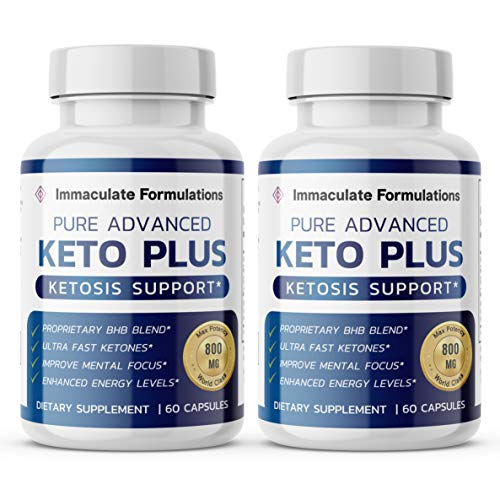 Advanced Keto Plus Pills Advanced BHB Ketogenic Supplement Exogenous Ketones Ketosis for Men Women 120 Capsules 2 Bottle 1