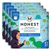 The Honest Company Toddler Training Pants, Dinosaurs, 4T/5T, 76 Count, Eco-Friendly, Underwear-Like Fit, Stretchy Waistband & Tearaway Sides, Perfect for Potty Training