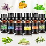 Aceites Esenciales, joylink 100% Natural Puro, 6 x 10 ml Set de Aceites Esenciales(Lavanda, Menta,...