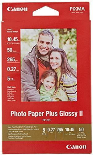 Canon Plus Glossy II PP-201 Fotopapier (10x15 cm) 50 Blatt