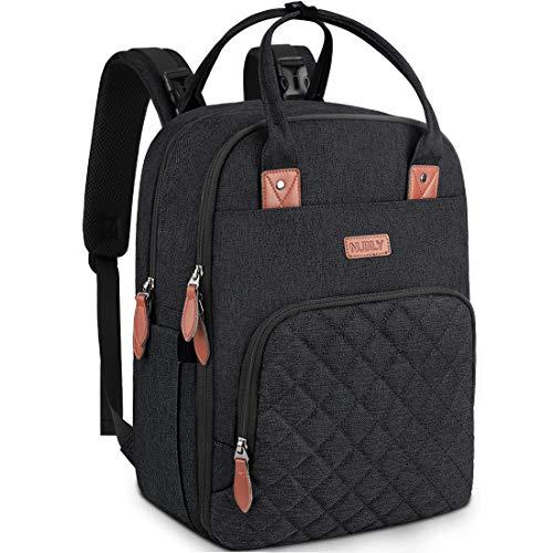 Baby Wickelrucksack Multifunktional Wickeltasche Rucksack Große Kapazität babytasche wickeltasche Reisetasche für Unterwegs Passform für Kinderwage Schwarz