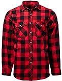 J.VER Chemises Homme en Flanelle Chemises Casual à Carreaux Manches Longues Chemise Chaude de Bucheron Regular Fit