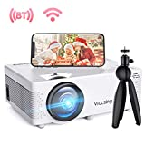 """VicTsing Mini WiFi Projector-4200L Wireless Bluetooth Projector with Tripod, 1080P 170"""" Display Supported, Compatible with TV Stick, PS4, DVD, Portable Protector for Home Entertainment【2020 New Tech】"""