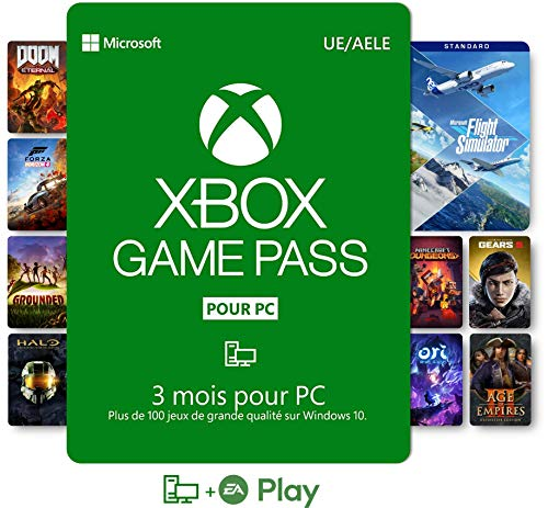 Abonnement Xbox Game Pass pour PC 3 Mois   Win 10 PC - Code jeu à télécharger