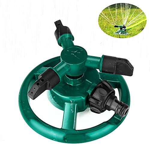 Rasensprenger, Coquimbo Garten Sprinkler, Sprenger Garten, 360 Grad 3-Arm drehender Wasser Sprenger, Bewässerungs Basisanlage Bewässerungs Garten Versorgungsmaterialien