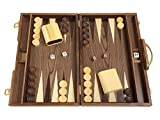 Orion Craft 15 in. Wood Backgammon Set - Burlwood Board