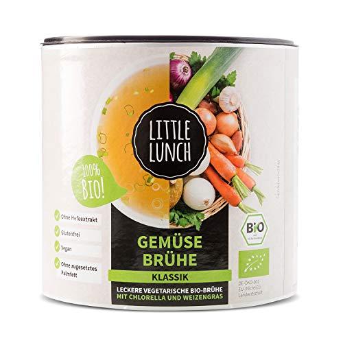 """Little Lunch Bio Brühe   """"Gemüsebrühe Klassik""""   420g   Vegan   100% Bio-Qualität   Ohne zugesetzten Zucker   Ohne Geschmacksverstärker   Ohne Hefe   Ohne Palmfett   Ohne künstliche Zusätze"""