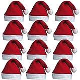Redstar Fancy Dress - Lots de 12 Bonnets du Père Noël - à Pompon - pour fête...