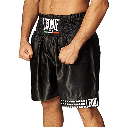 LEONE 1947Pantalón Corto de Boxeo, Unisex, Color Negro, tamaño Small