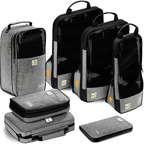 VASCO Unisex-Adult (Luggage only) Packing Cubes Set, Grey,...