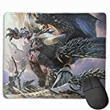 YanHill Large Monster Hunter Rectangle Non-Slip Rubber Mousepad Gaming Mouse Pad Waterproof Mouse Mat for Computers, Laptop, Office & Home, 9.8'x11.8'x1.2'
