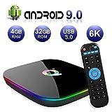 Android TV Box,Q Plus Android 9.0 TV Box 4GB RAM/32GB ROM H6 Quad-Core Support...